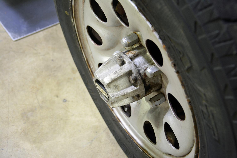 1982 Toyota Delta Mini Cruiser wheel closeup