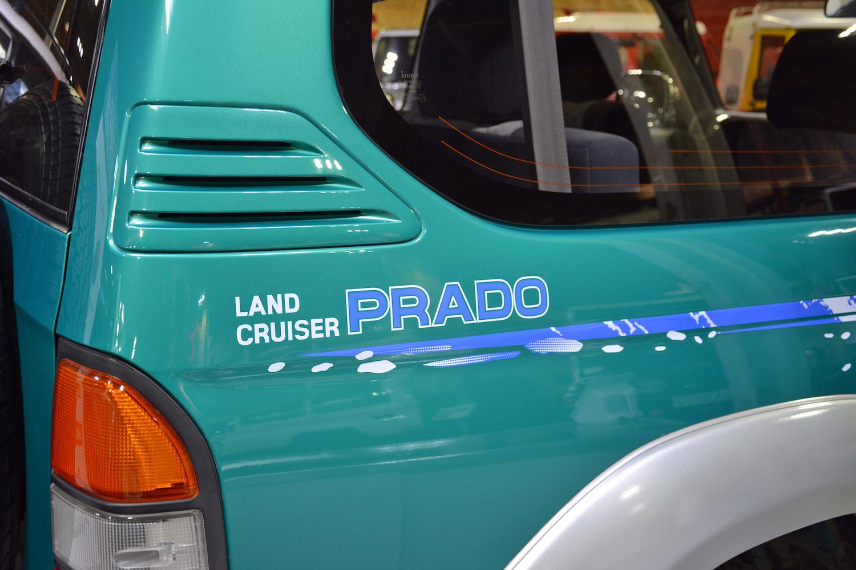 1996 Toyota VZJ90W land cruiser prado decal