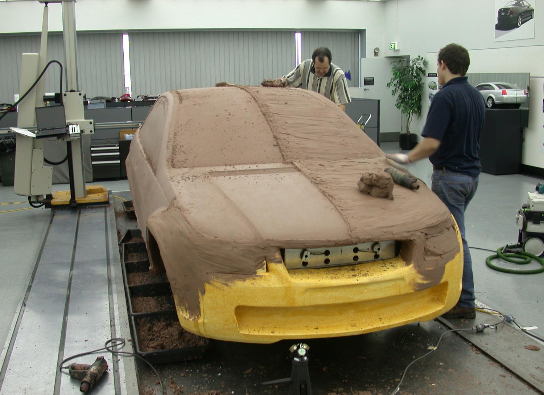 holden designers work on clay model prototype