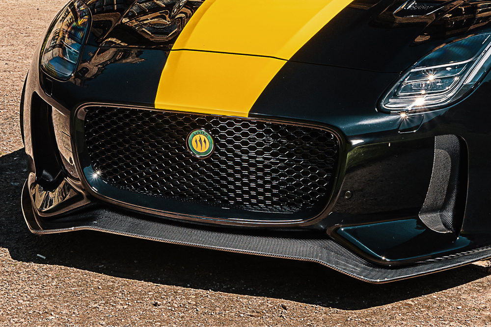 lister yellow and green front grille closeup