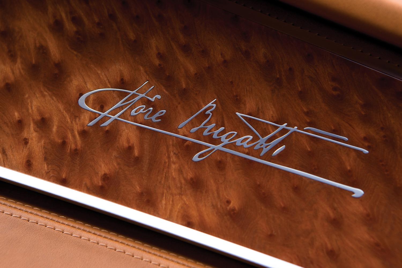 Bugatti 16C Galibier concept interior signature