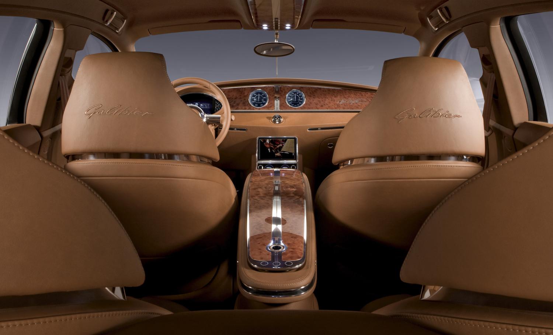 Bugatti 16C Galibier concept interior front facing