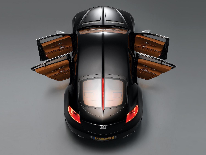 Bugatti 16C Galibier concept overhead rear open doors