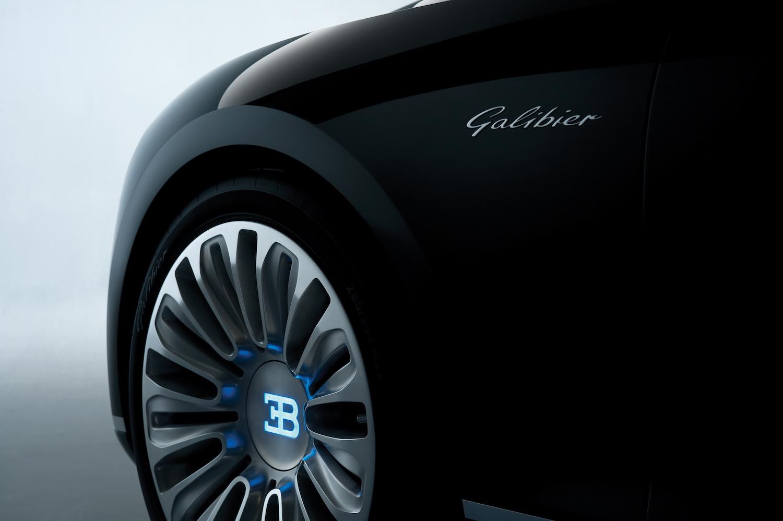Bugatti 16C Galibier concept front badge and wheel