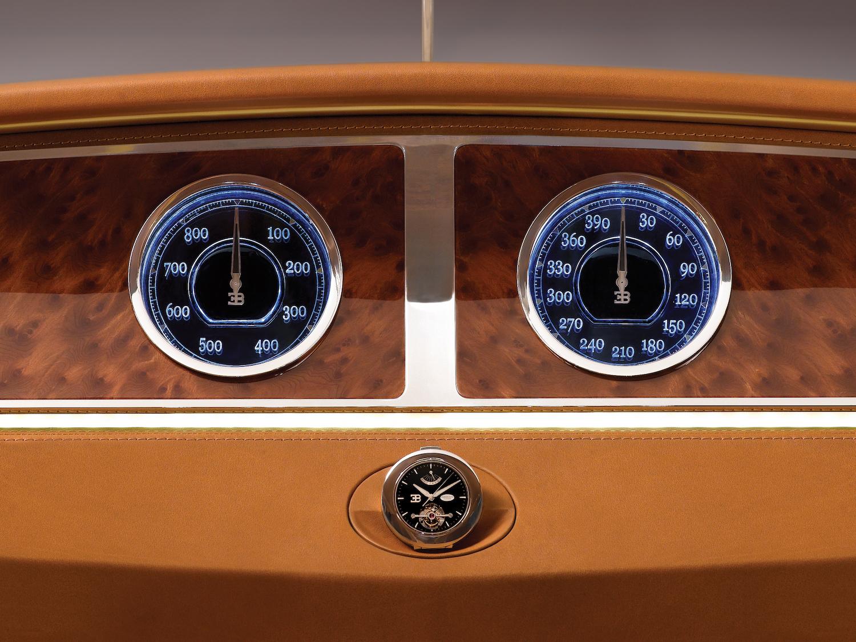 Bugatti 16C Galibier concept interior dash gauges