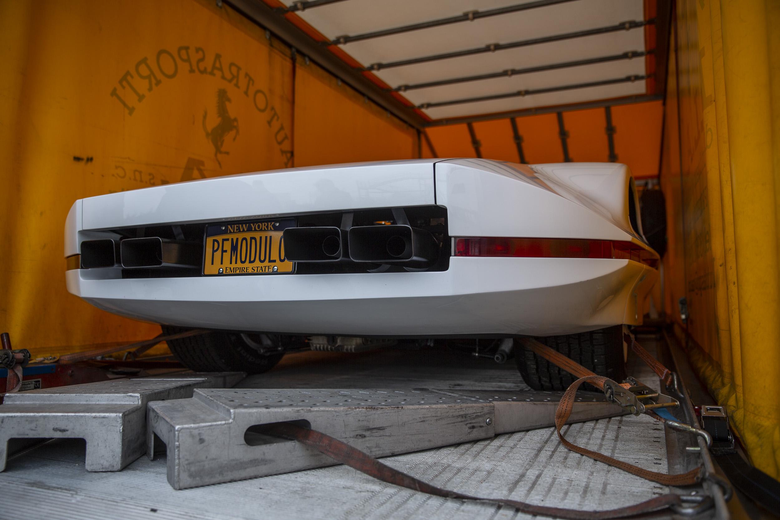 ferrari modulo rear and exhaust