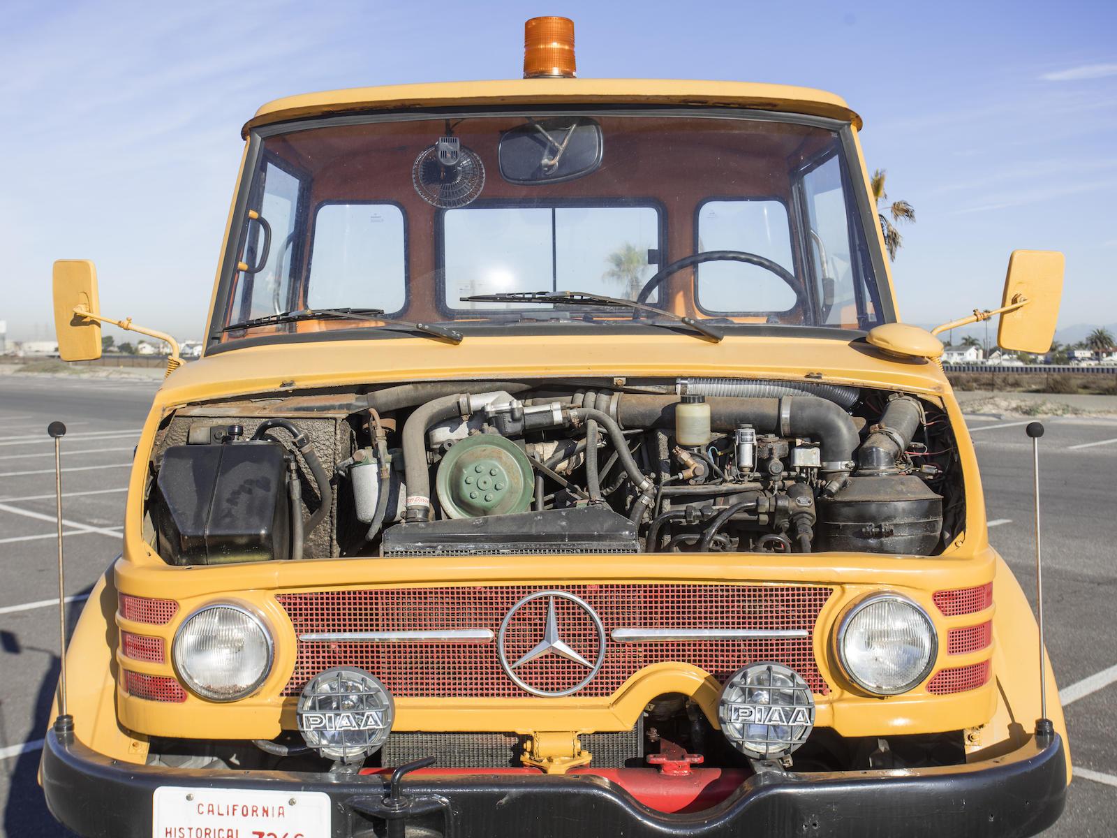 1966 Mercedes-Benz Unimog Car Hauler front engine bay