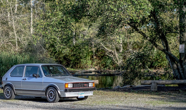 1983 Volkswagen Rabbit GTI front three-quarter
