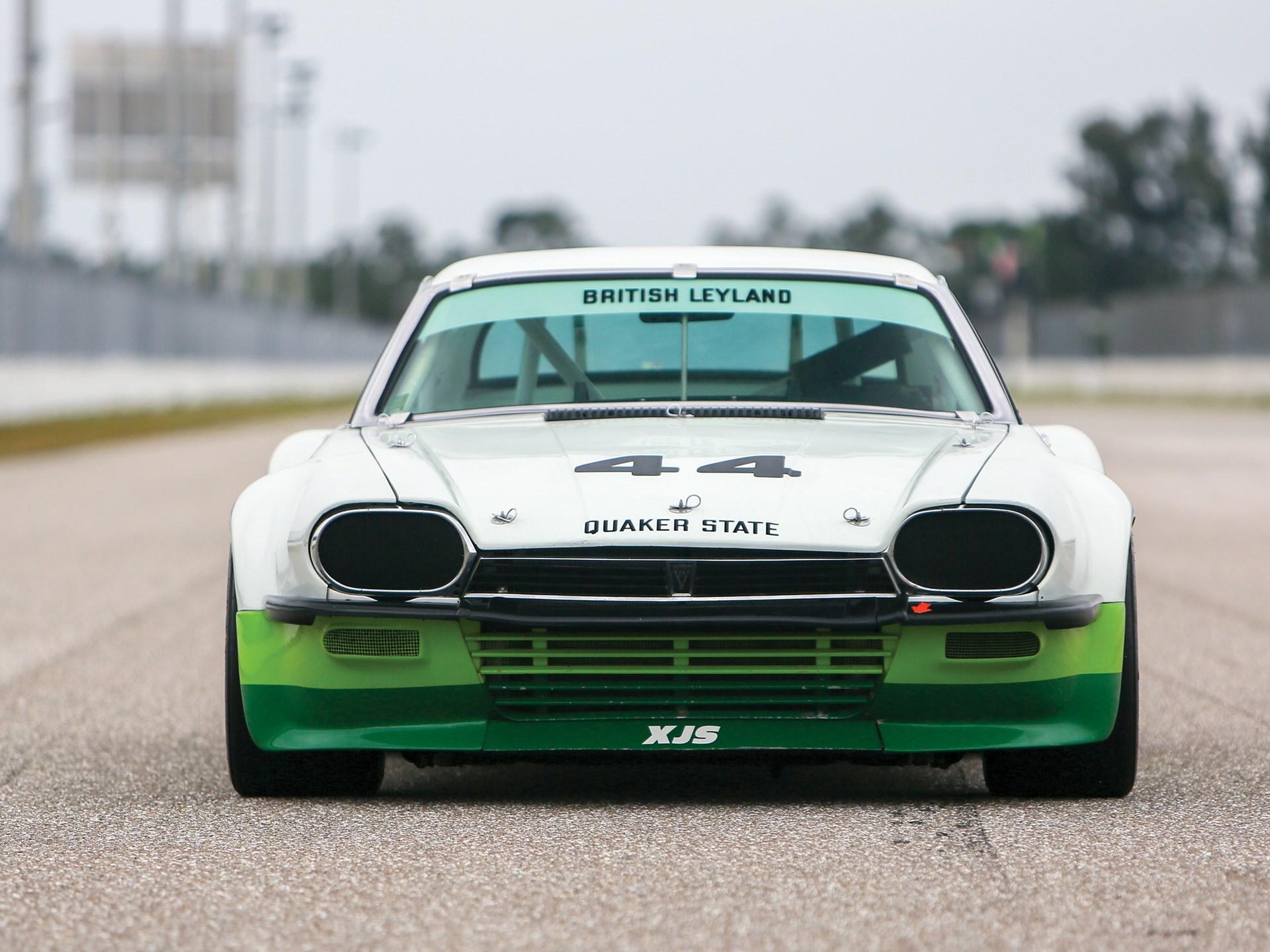 vintage racing jaguar front