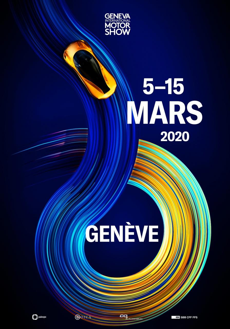 Geneva International Motor Show marketing banner infographic