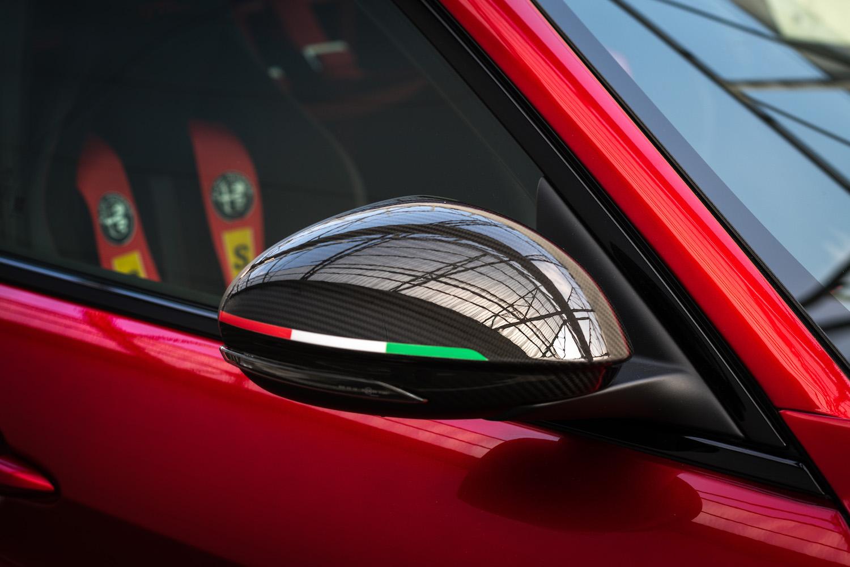 Alfa Romeo Giulia GTA mirror closeup