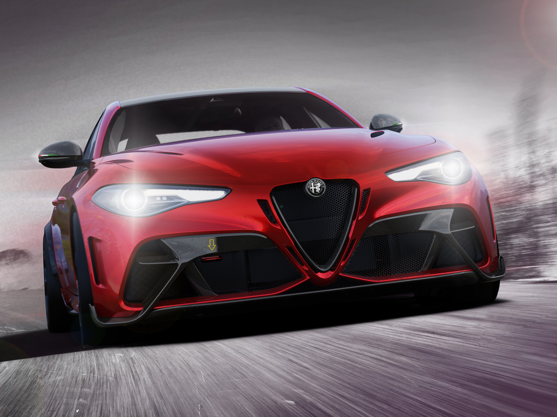 Alfa Romeo Giulia GTA front three-quarter action