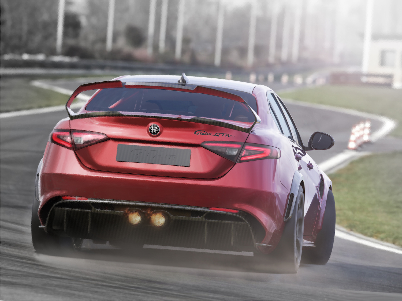 Alfa Romeo Giulia GTA rear three-quarter action