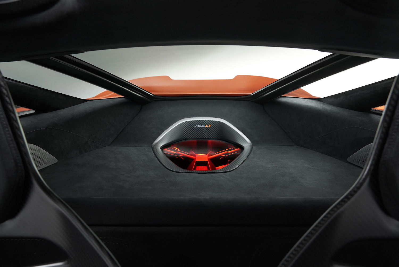 mclaren supercar interior rear view internals