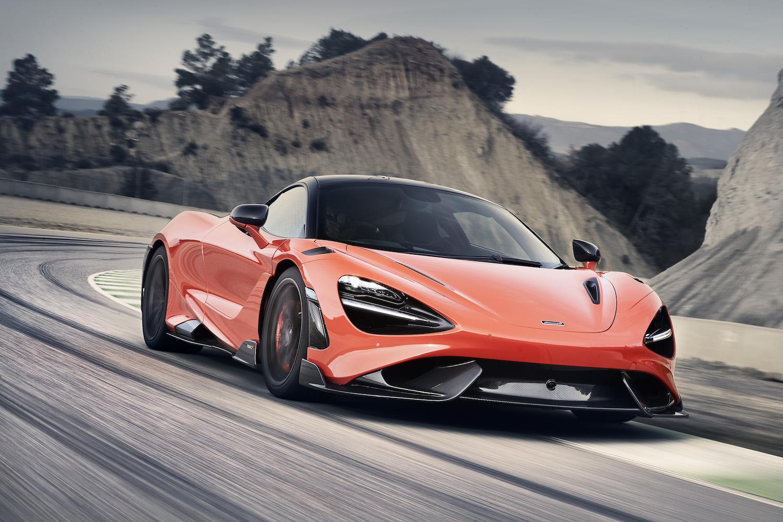 McLaren 765LT supercar front three-quarter
