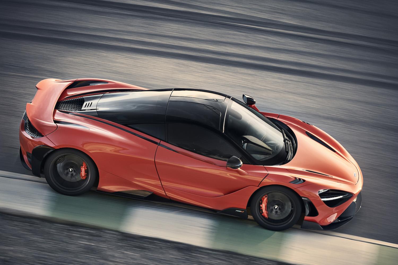 McLaren 765LT supercar rear action