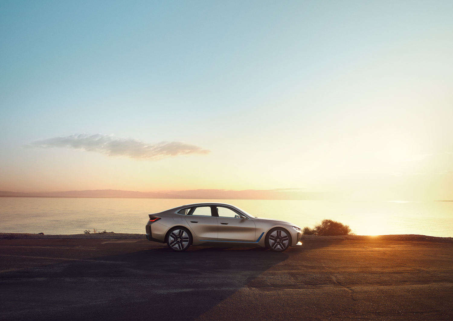 2021 BMW Concept i4 side-view