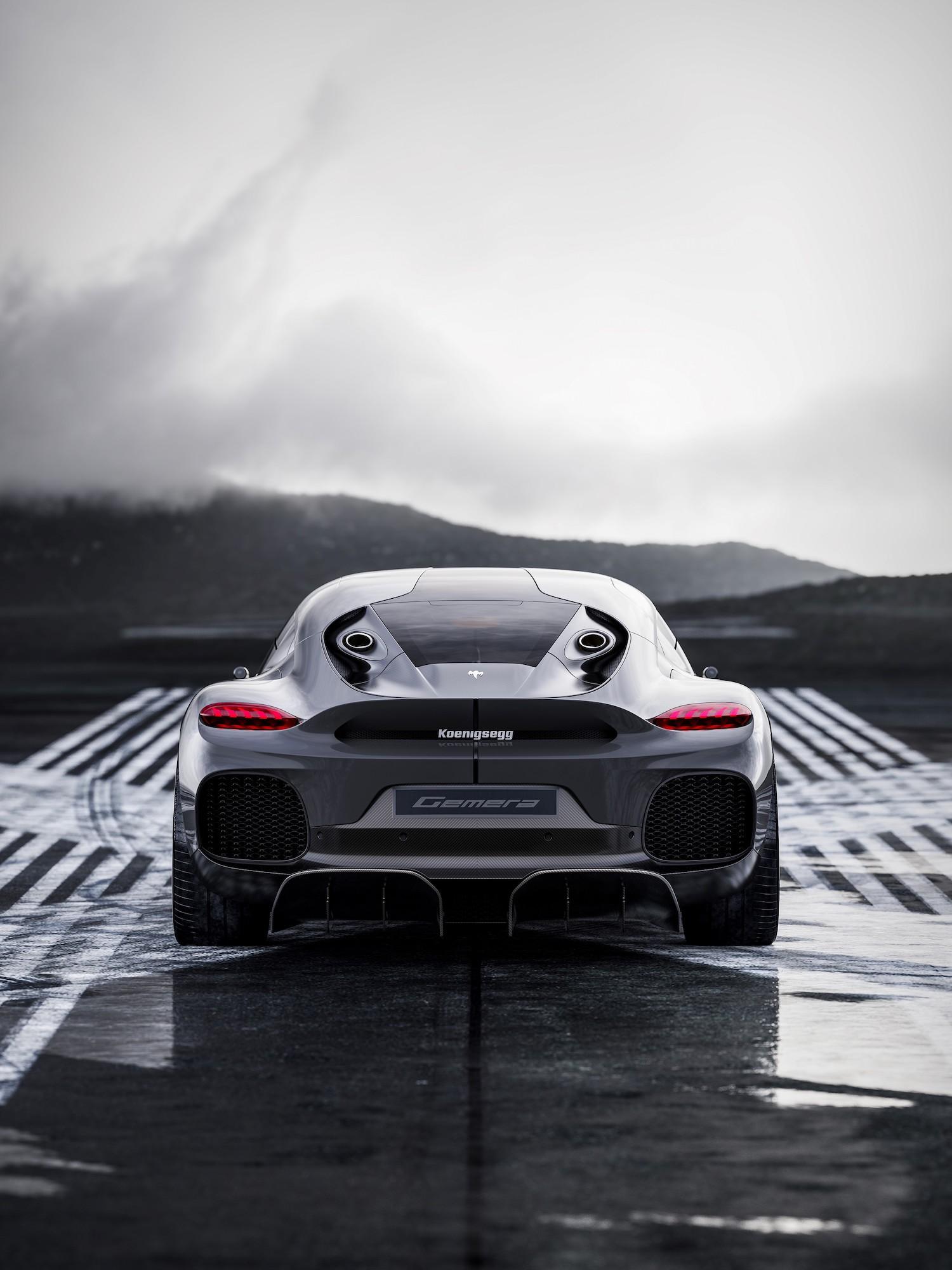 Koenigsegg gemera rear exhaust