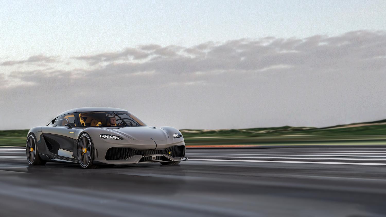 Koenigsegg gemera front three-quarter action