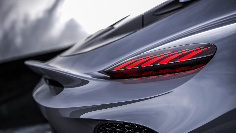 Koenigsegg gemera rear closeup side-view