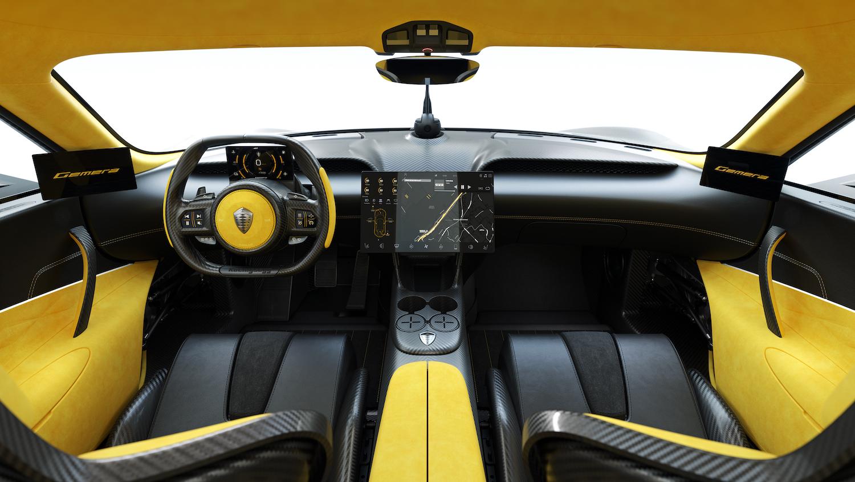 Koenigsegg gemera interior front