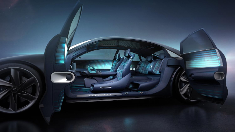 Hyundai Prophecy Concept EV side-view open door interior