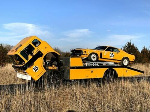 1970 Boss 302 Trans Am Race Car with Ford C8000 Cab-Over Transport Truck