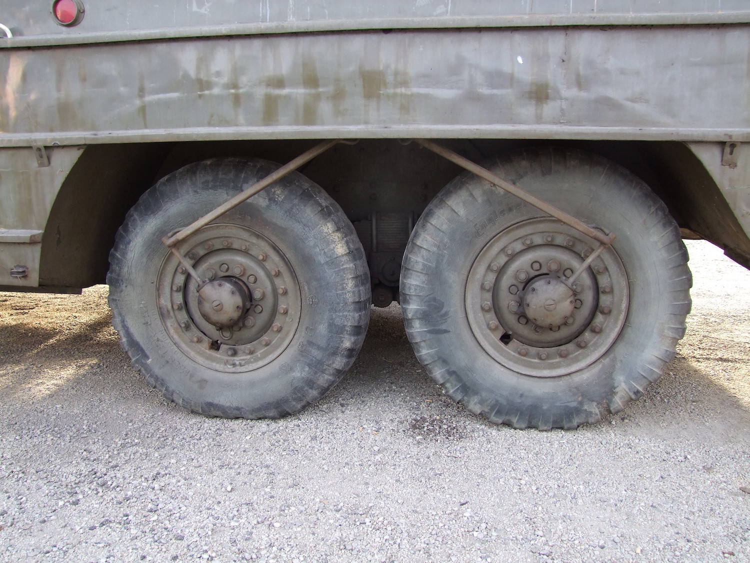 dukw wheels central tire inflation system closeup