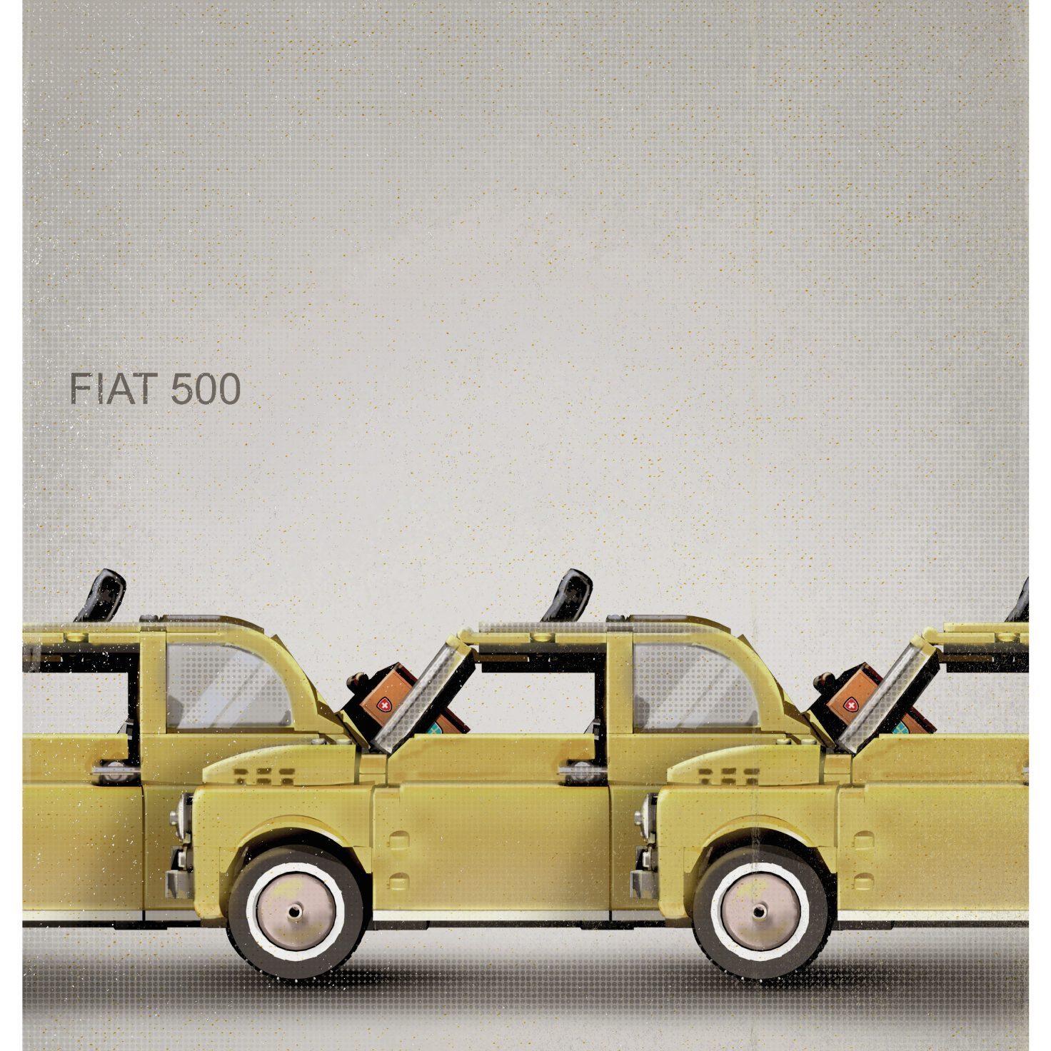 LEGO fiat 500 poster