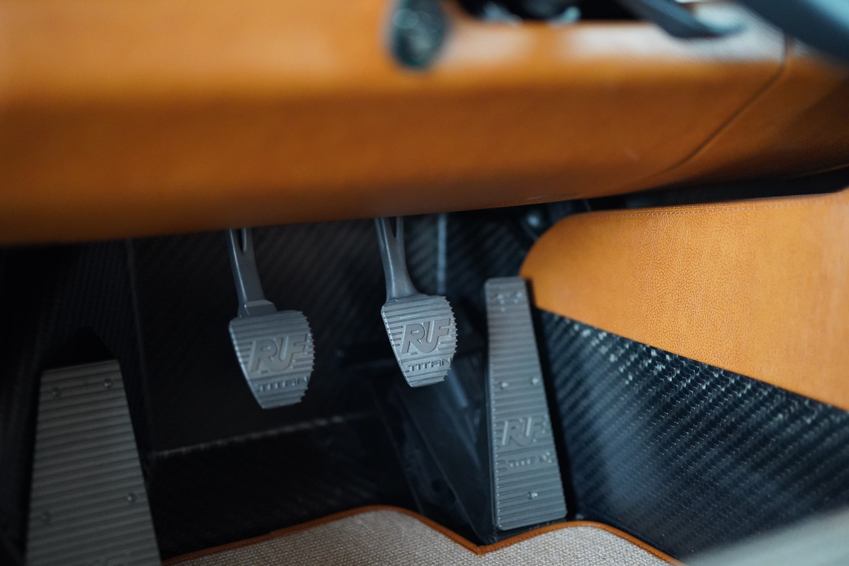 custom porsche 911 pedals closeup