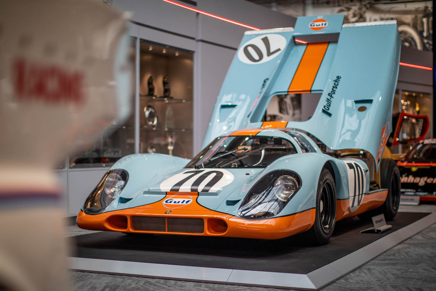 This 1970 Porsche 917K was used in the Steve McQueen film, Le Mans.