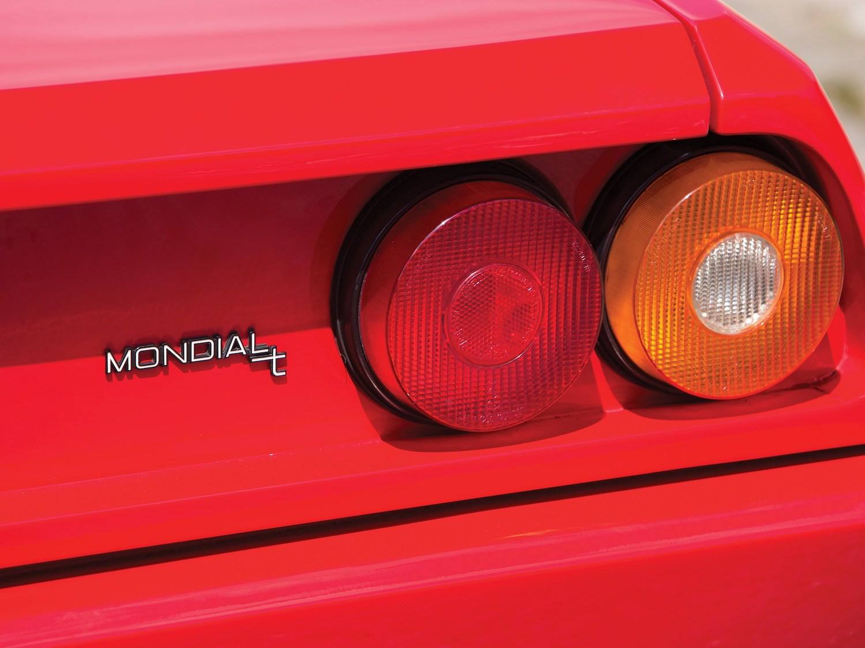 classic ferrari supercar taillight closeup
