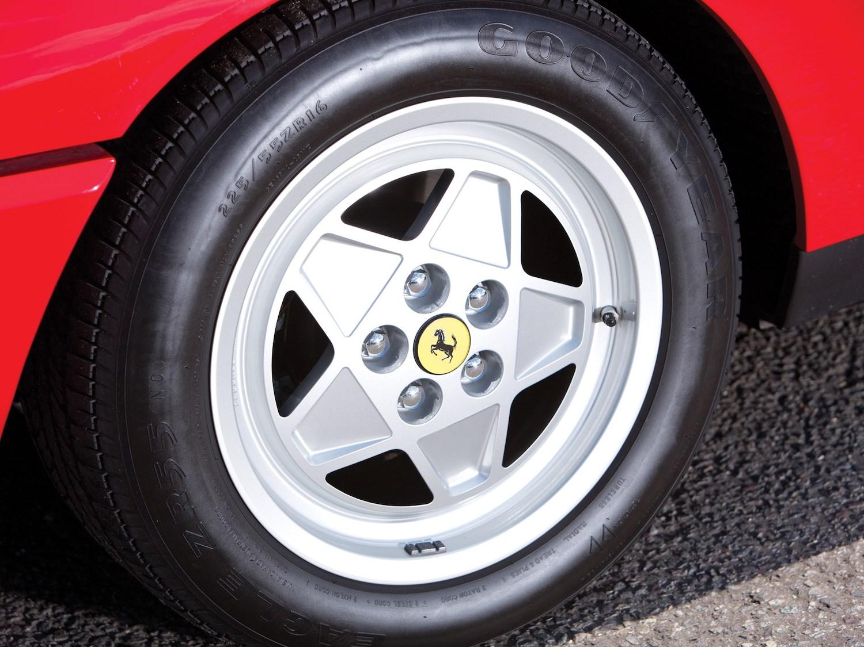 classic ferrari wheel closeup