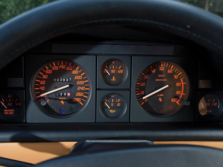classic supercar dash closeup