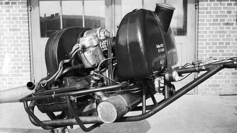 vintage porsche engine