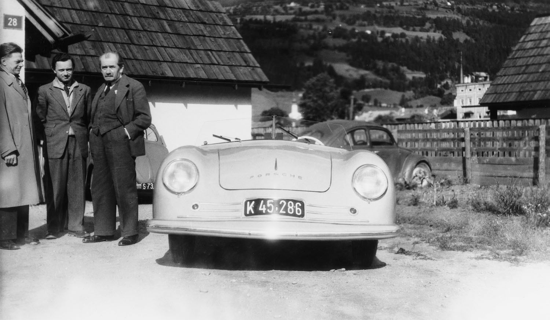 vintage porsche 356 front