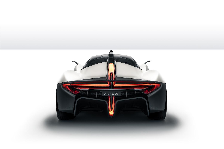 Apex ev supercar rear