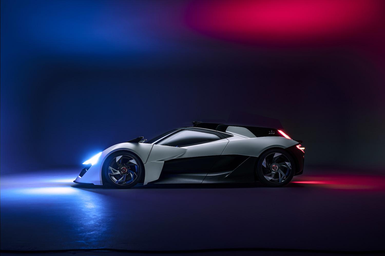 Apex ev supercar side-view