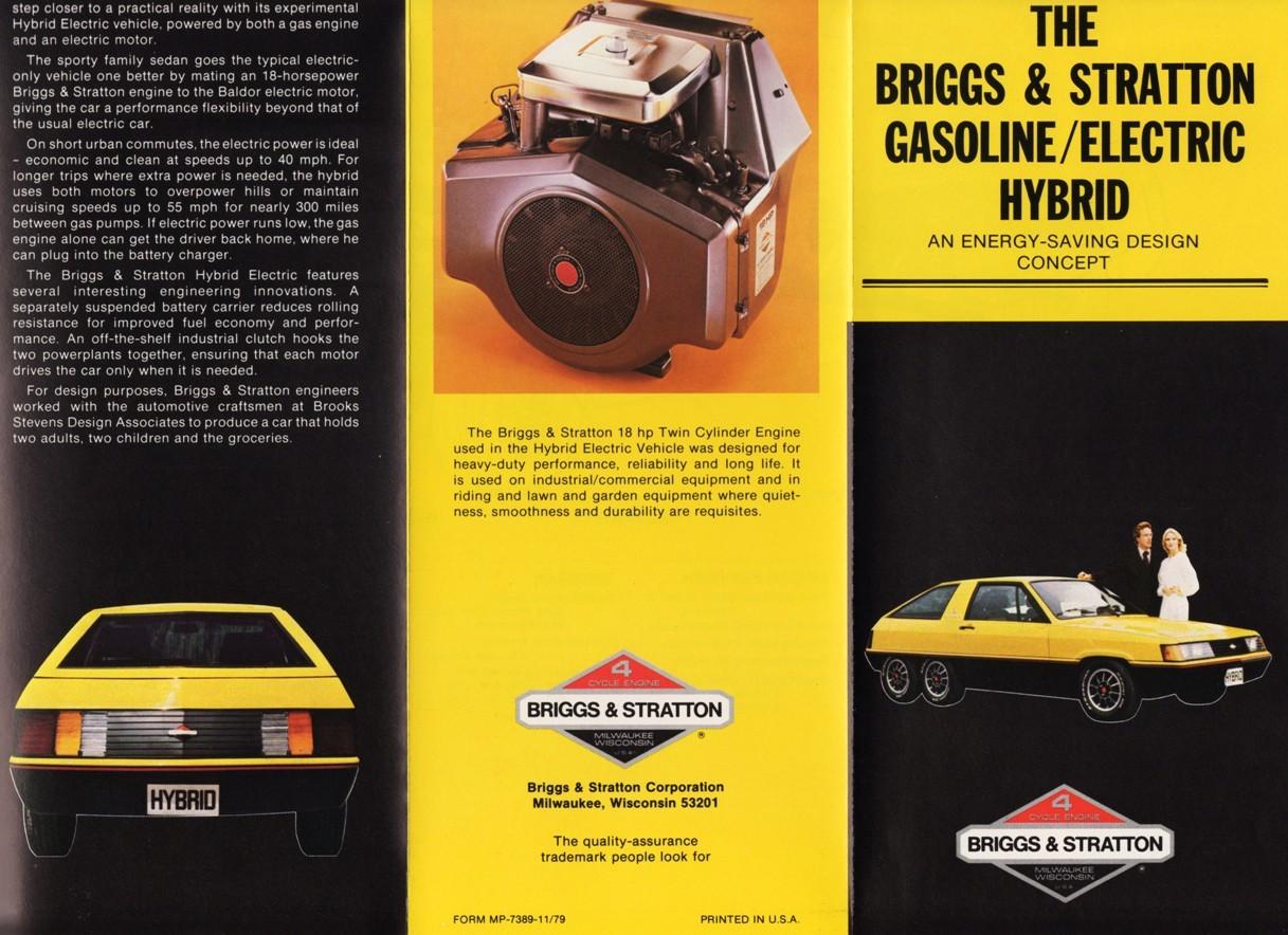 hybrid electric vehicle concept print brochure