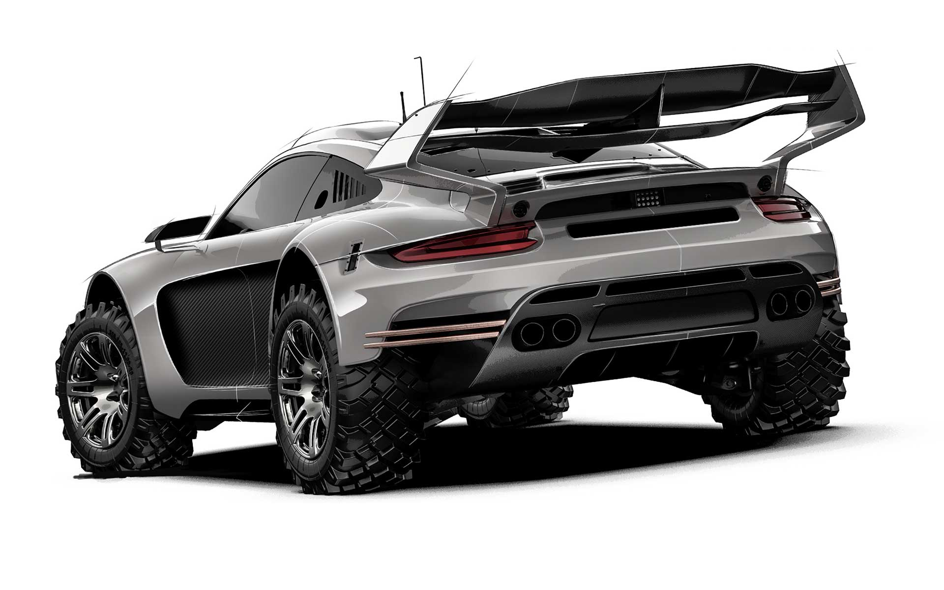 Gemballa Avalanche 4x4 off roader rear