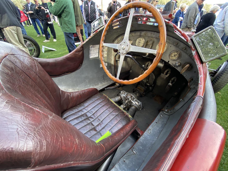 alfa romeo p3 vintage race car interior cockpit
