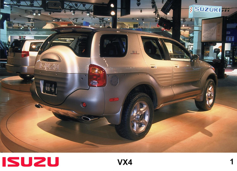 Isuzu vx4 suv rear three-quarter