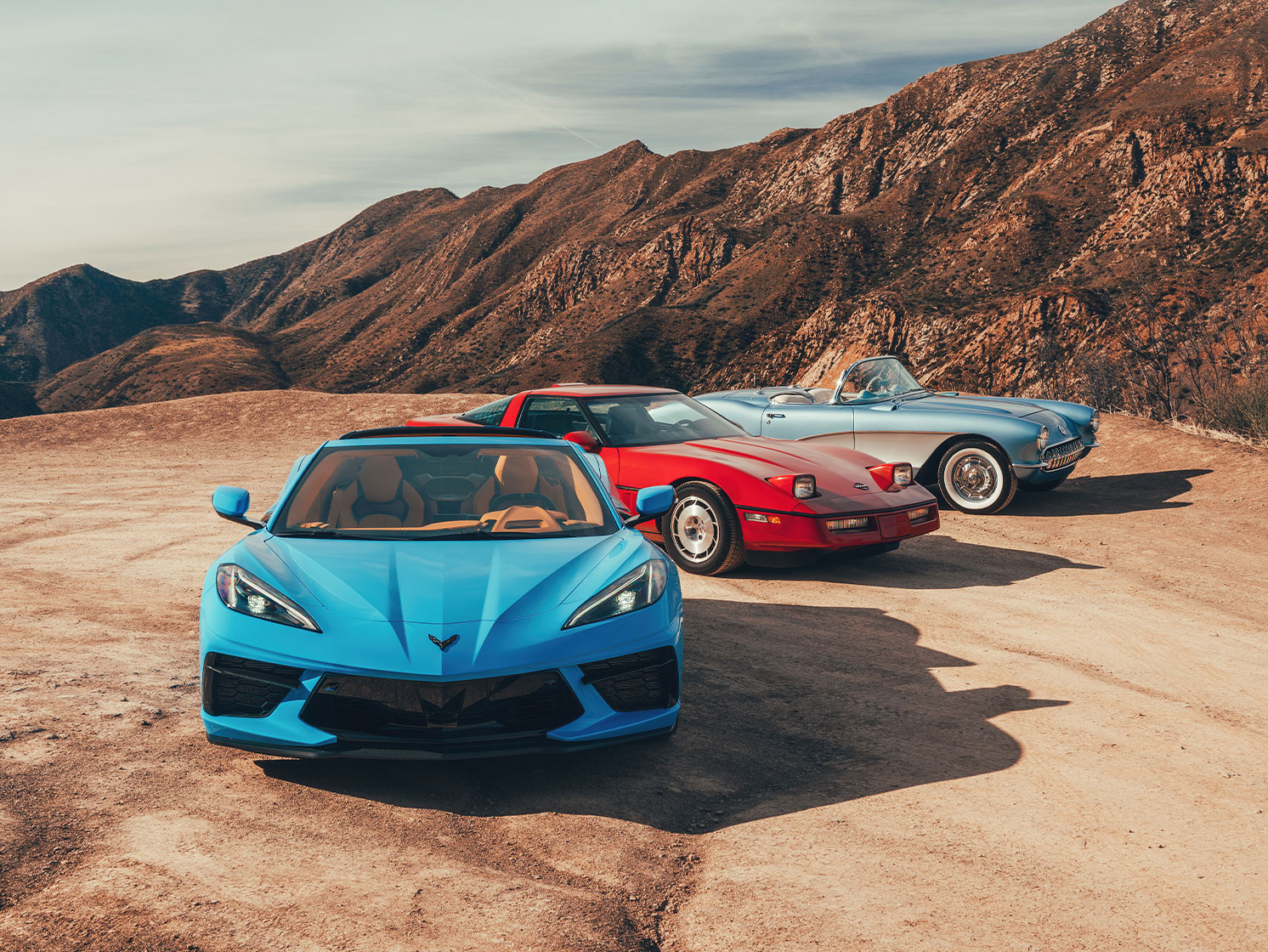 The engine moves back, the Corvette moves forward