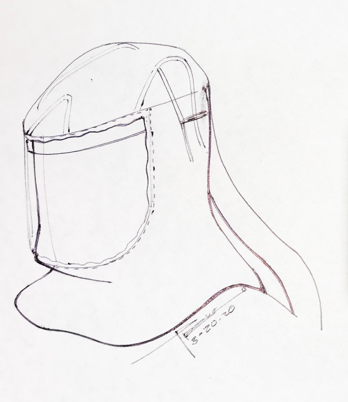 Hood Sketch Brightened