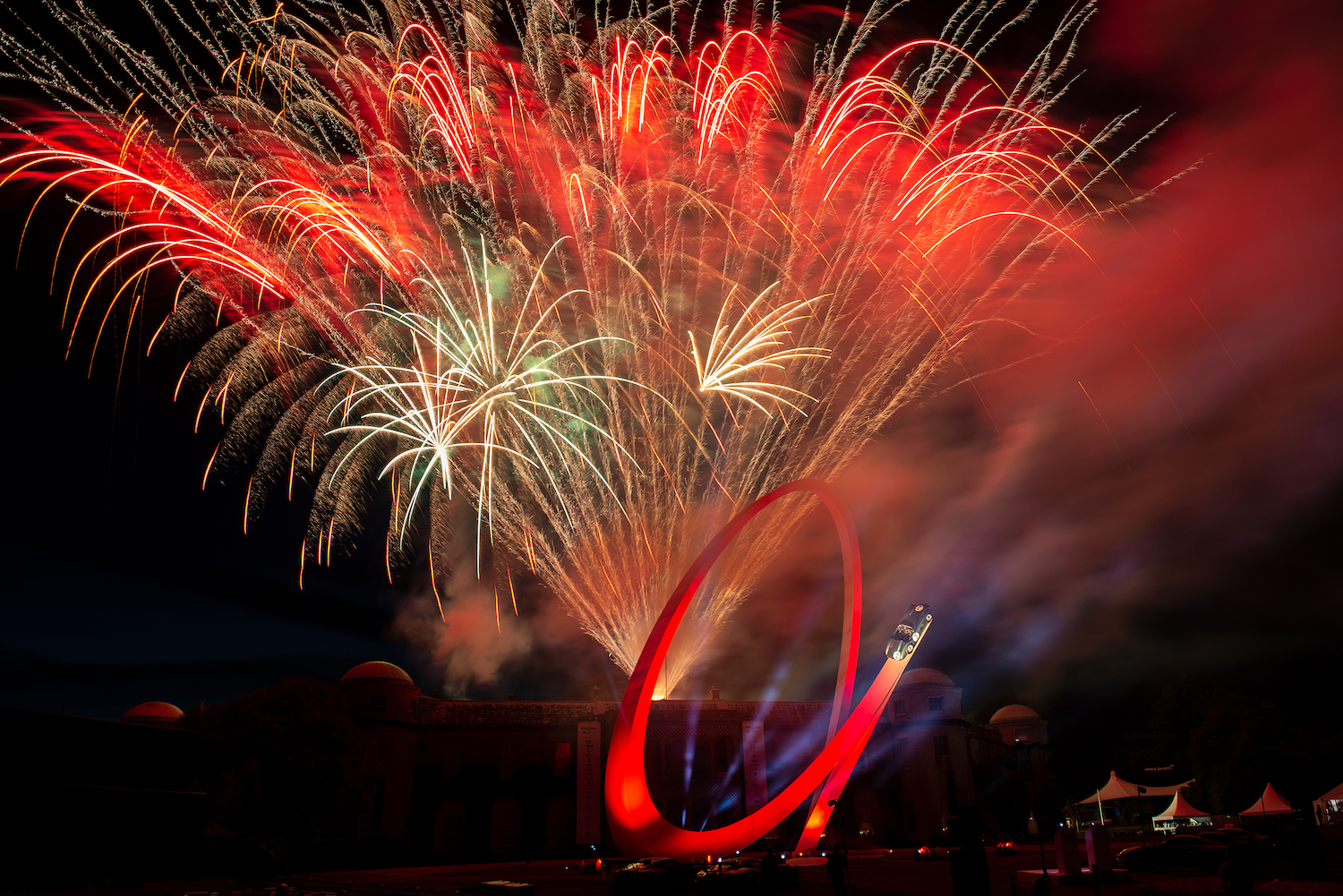 firework show at goodwood festival of speed