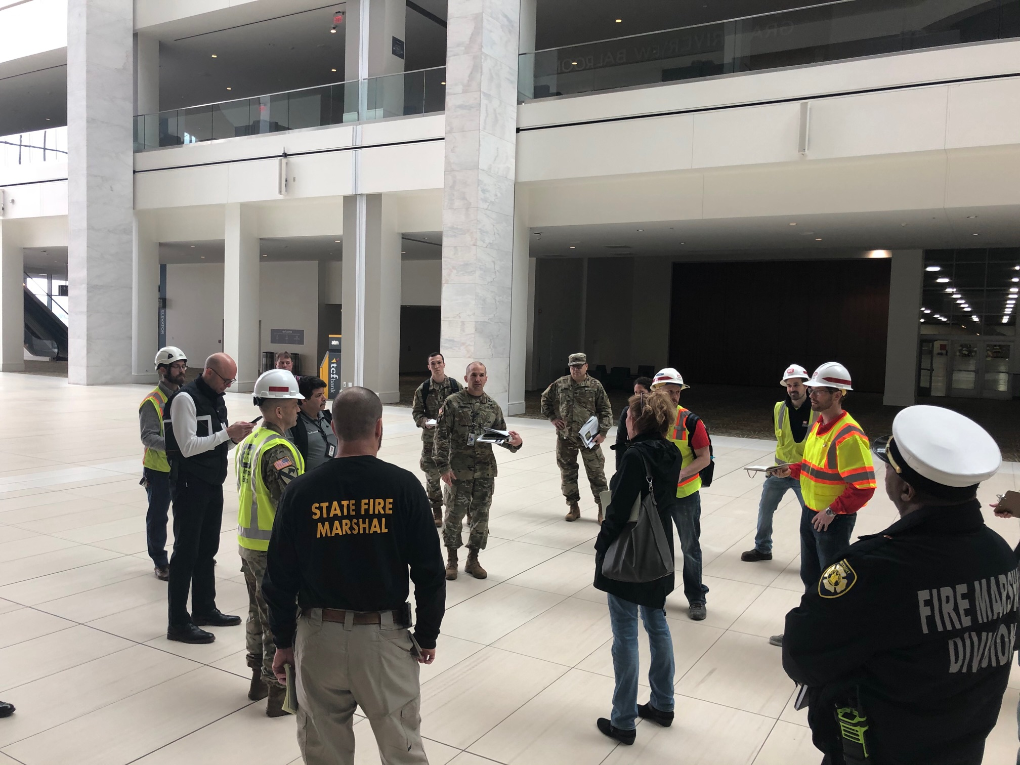 engineers planning in tcf center