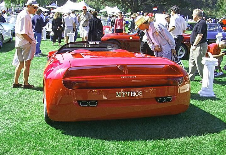 ferrari mythos supercar rear