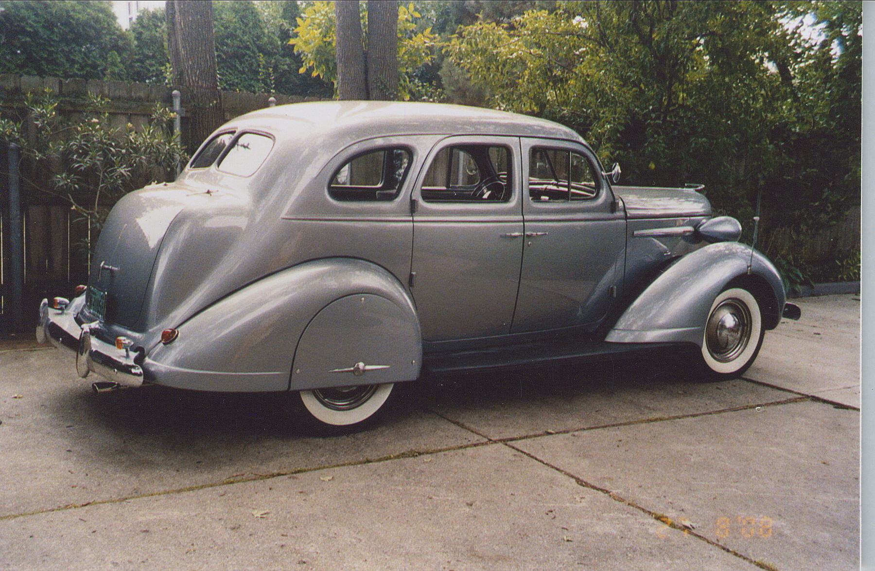 restored 1938 nash sedan rear three-quarter