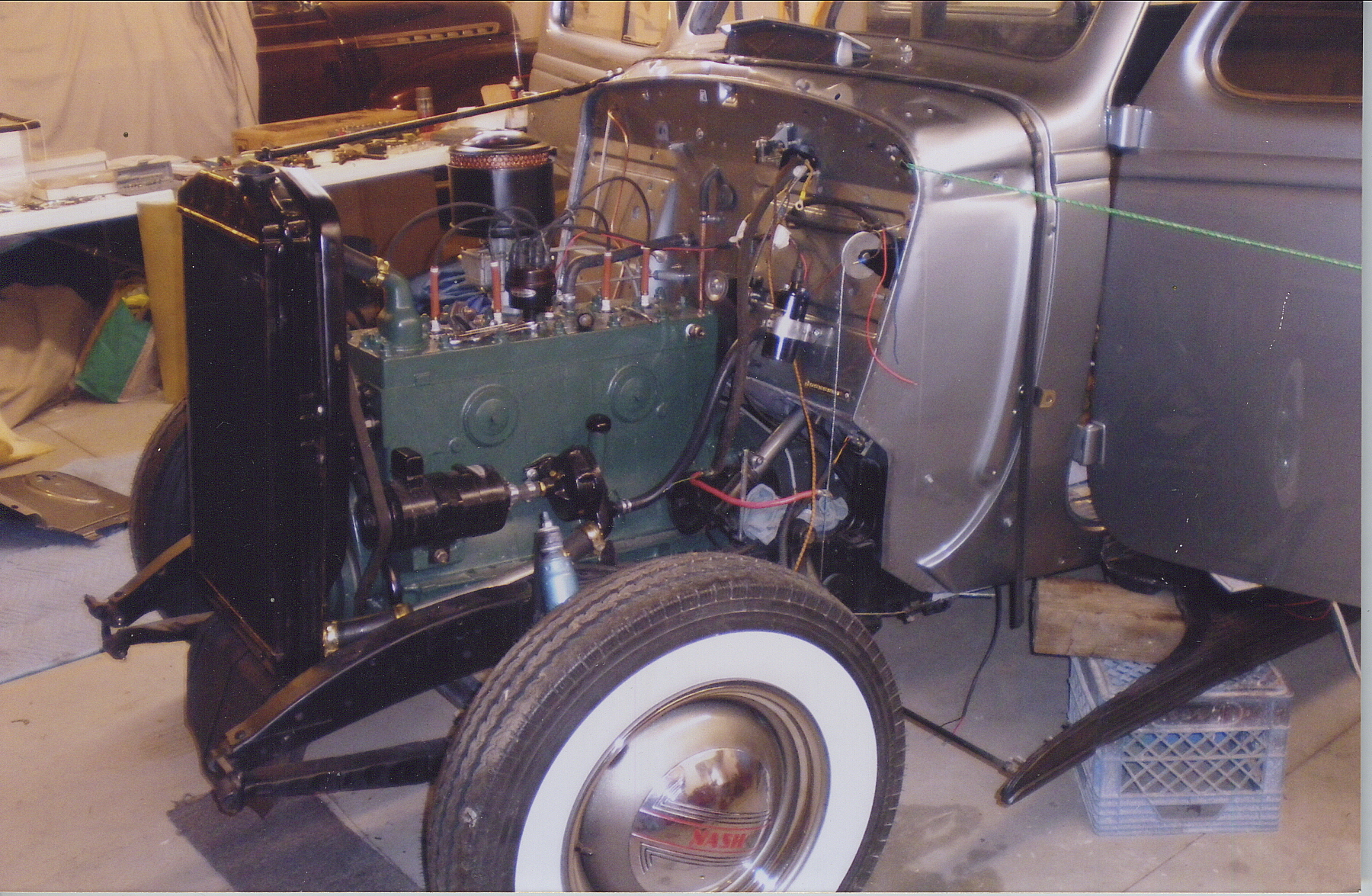 classic 1938 nash restoration engine