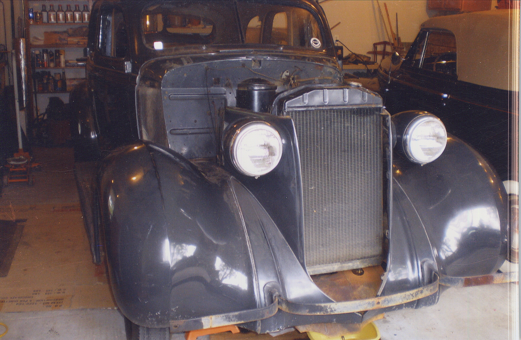 classic 1938 nash restoration project front three-quarter